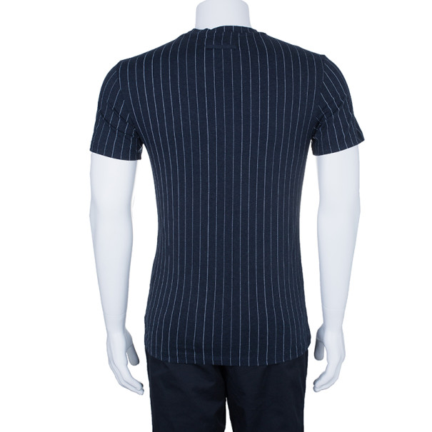 Jean Paul Gaultier Mens Pinstriped T-Shirt S
