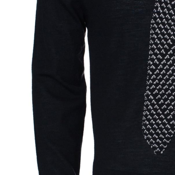 Jean Paul Gaultier Mens Knit Tie Sweater S