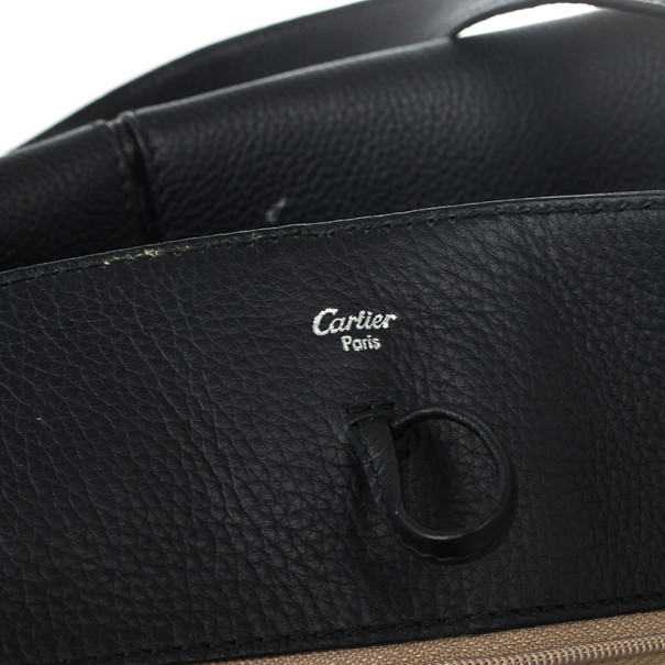 "Cartier Black Leather and Snakeskin Limited Edition ""Marcello de Cartier"" Tote"