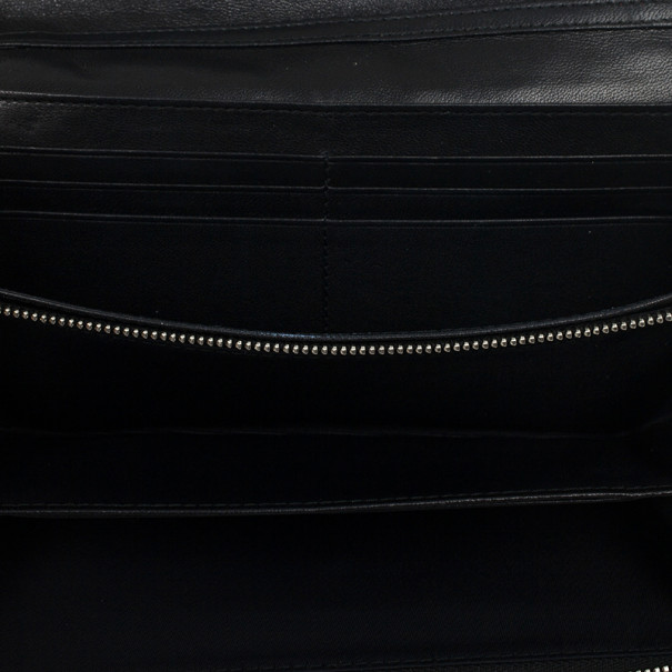 Christian Dior Lady Dior Patent Cannage Rendez-Vous Chain Wallet