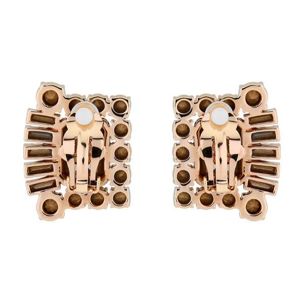Mawi Galaxy Rocks Geometric Gemstone Clip Earrings