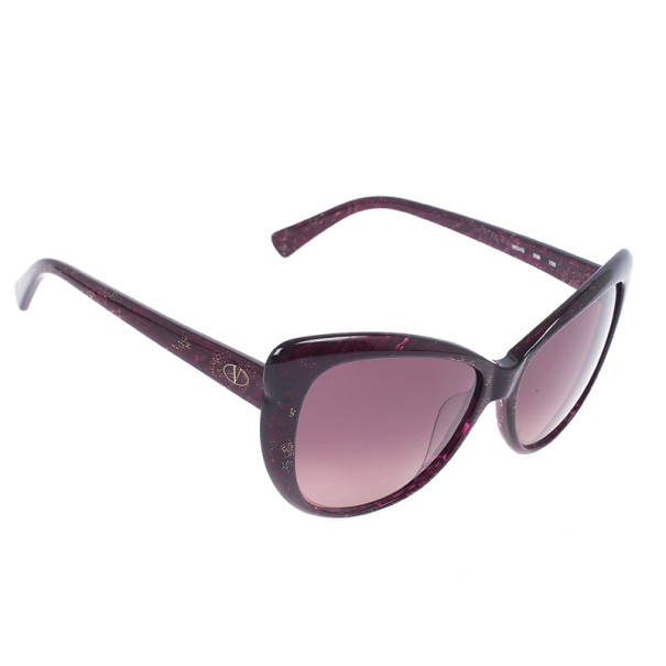 Valentino Dark Plum Glitter Woman Sunglasses V634S-538