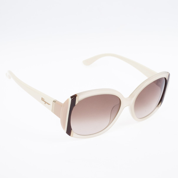 Salvatore Ferragamo White Woman Sunglasses SF674S-601