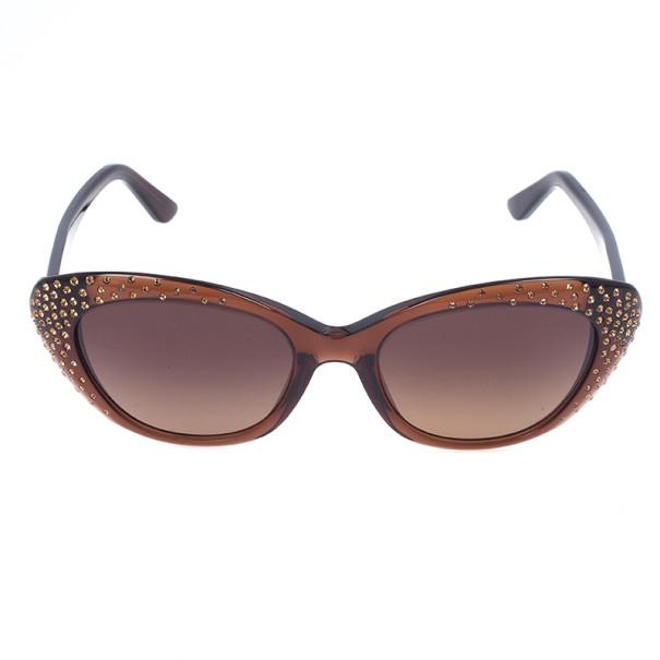 Salvatore Ferragamo Brown Woman Glittery Sunglasses SF656SR-210