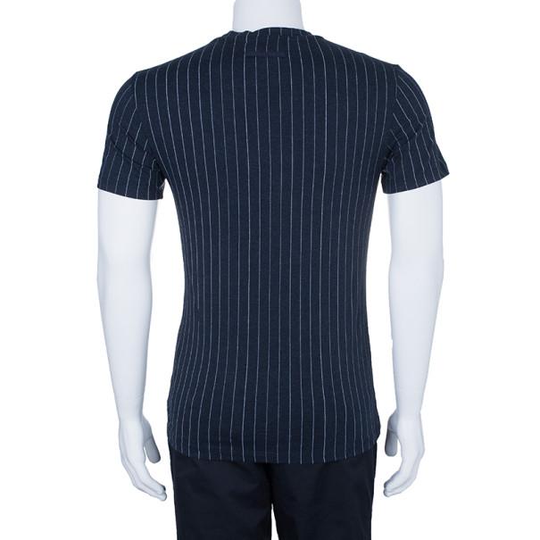 Jean Paul Gaultier Mens Pinstriped T-Shirt S