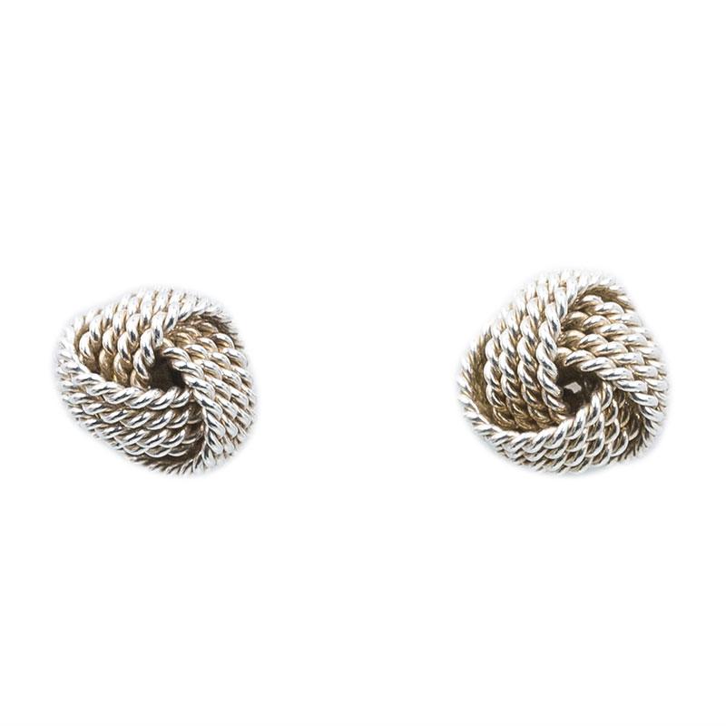 Tiffany & Co. Tiffany Twist Knot Silver Stud Earrings