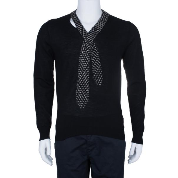Jean Paul Gaultier Mens Knit Tie Sweater L