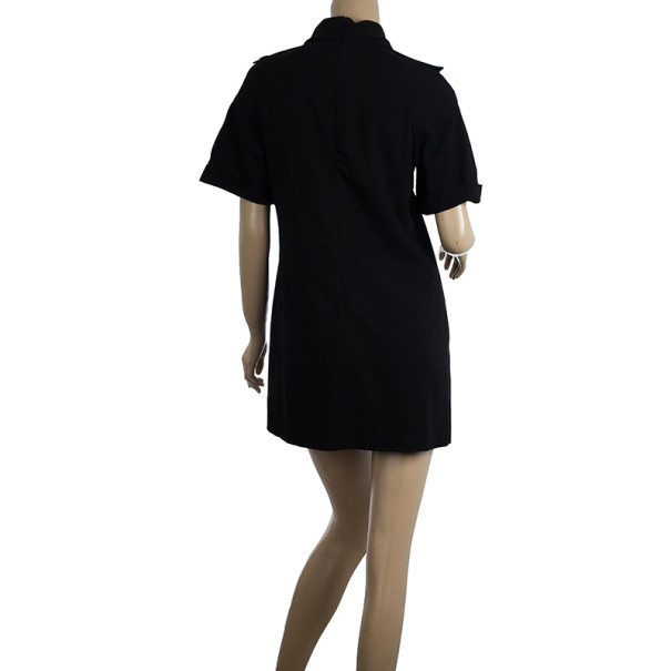 Burberry Black Turtleneck Ponte Dress M
