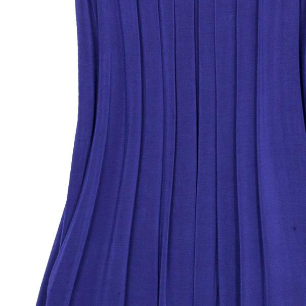 Just Cavalli Purple Empire Waist Dress M
