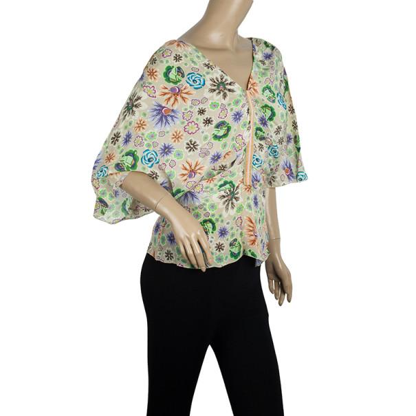 Missoni Floral Print Silk Top L