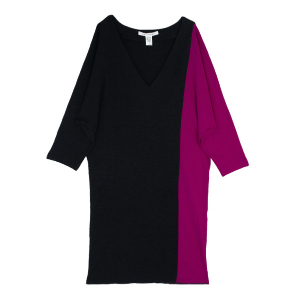 Diane Von Furstenberg Clem Colorblock Dress S