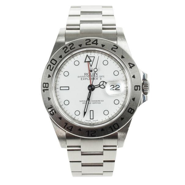 Rolex Oyster Perpetual Explorer II White Unisex Wristwatch 40 MM