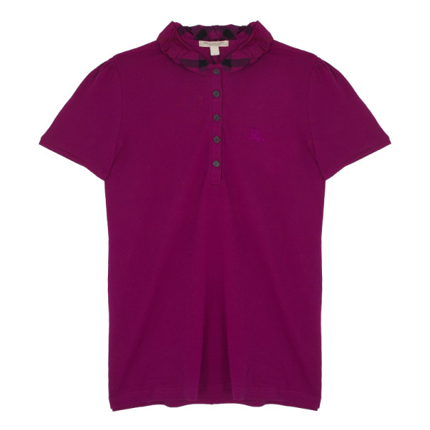 Burberry Cotton Modal Polo Shirt M