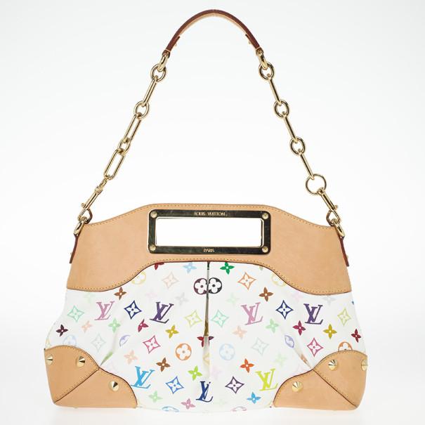 Louis Vuitton White Multicolor Judy MM