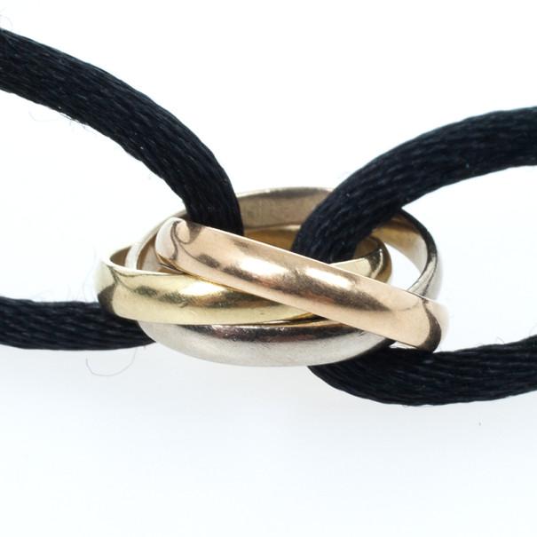 Cartier Trinity Black String Bracelet