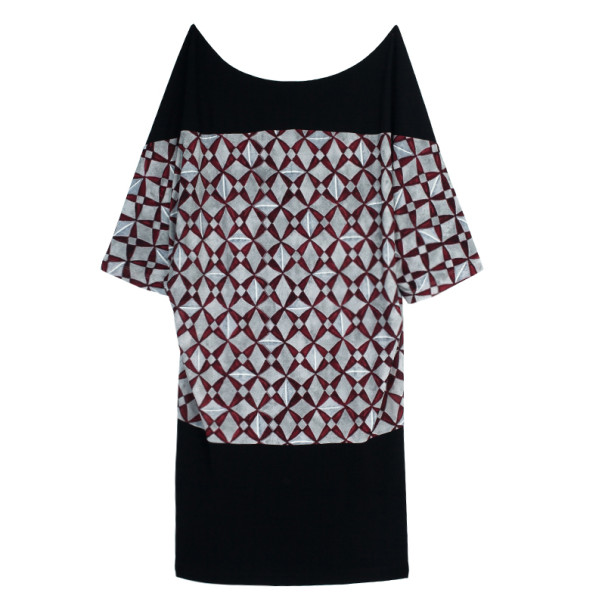 Balenciaga Paris Mosaique Print Top L