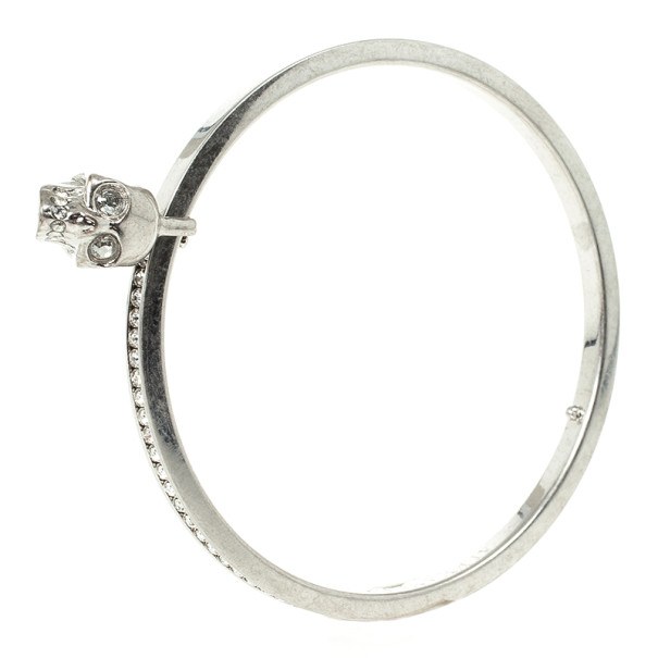 Alexander McQueen Crystal Skull-Charm Bangle