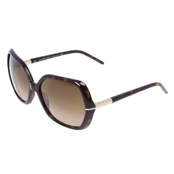 Burberry Black Oversized Square Faceted Woman Sunglasses