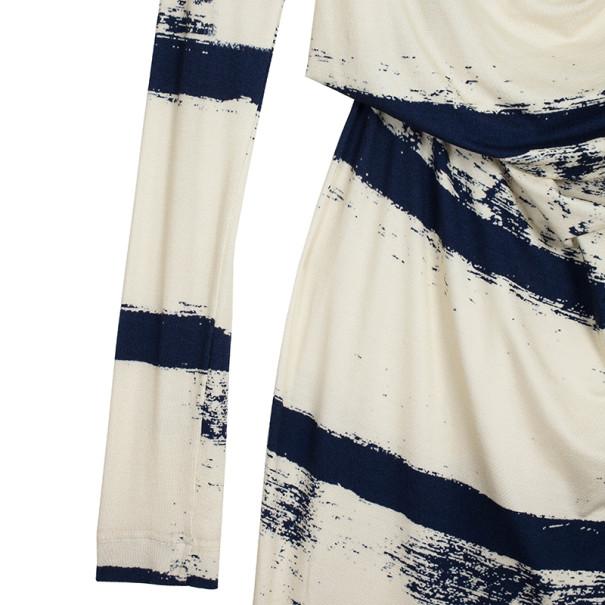 Vivienne Westwood Anglomania Striped Toga Drape Dress M