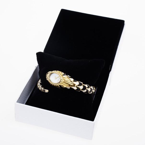 Roberto Cavalli Snake Flower SS Womens Wristwatch 24 MM