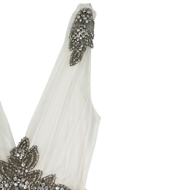 Jenny Packham Empire Waist Embellished Wedding Dress L