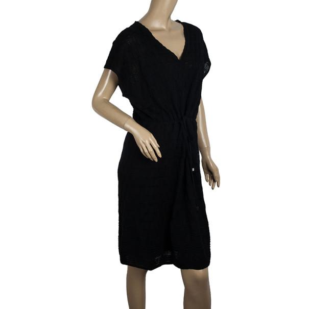 M Missoni Black Checkered Kaftan Dress XXL