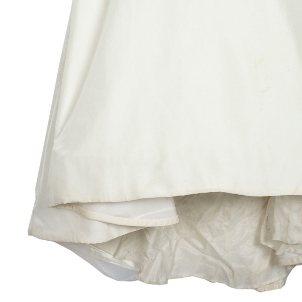 Vera Wang Off Shoulder Silk Wedding Dress L