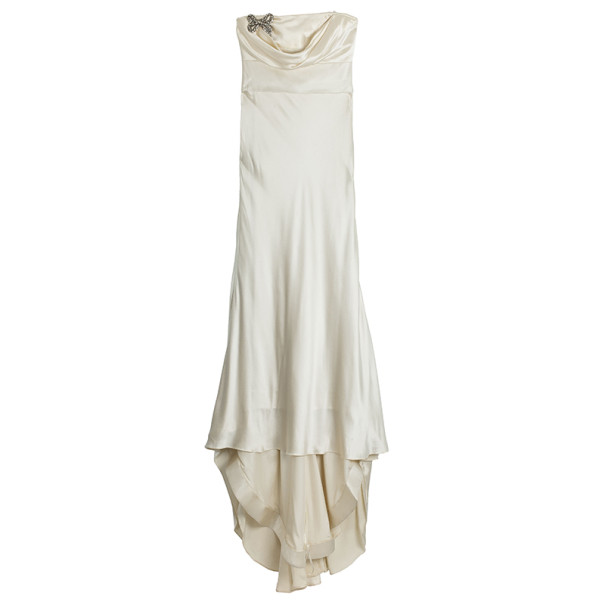 Vera Wang Silk Charmeuse Wedding Dress L