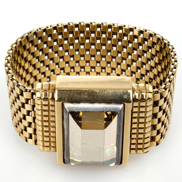 Lanvin Strass Golden Bracelet