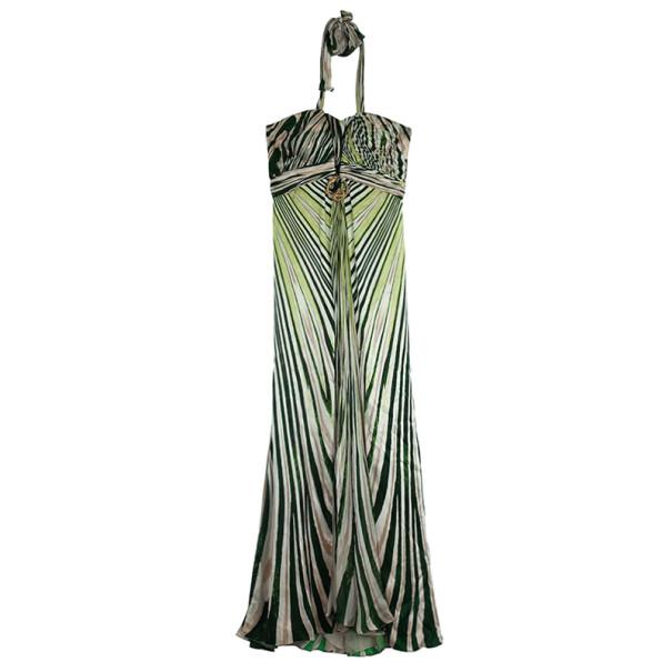 Roberto Cavalli Silk Printed Maxi Dress M