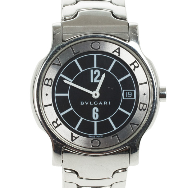 Bvlgari Solotempo Stainless Steel Womens Wristwatch 29 MM