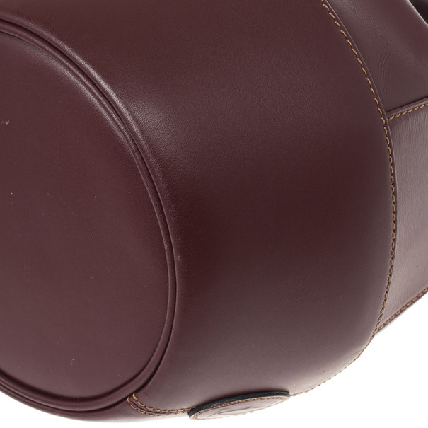 Cartier Burgundy Leather Bucket Bag