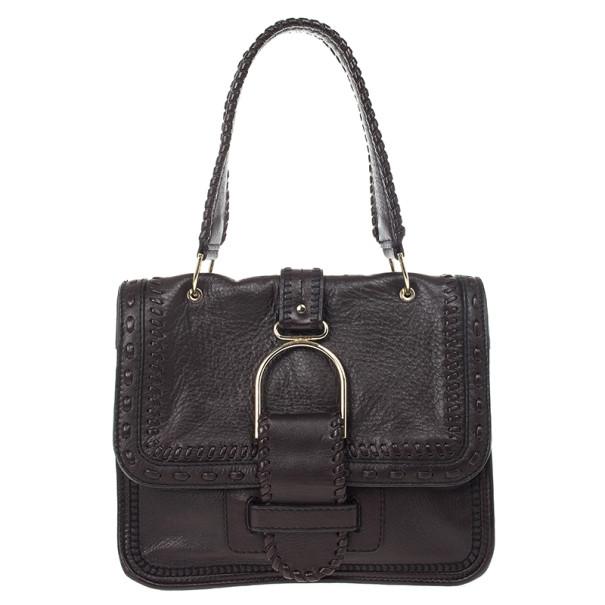 Jimmy Choo Brown Leather Louise Bag