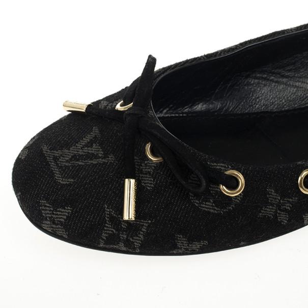 Louis Vuitton Monogram Denim Oasis Ballet Flats Size 41