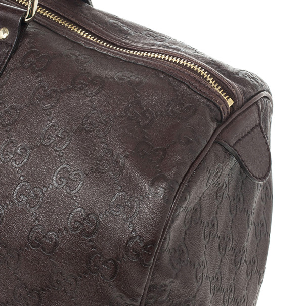 Gucci Brown Guccissima Joy Boston Bag