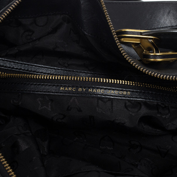 Marc by Marc Jacobs Black Leather And Suede Tote
