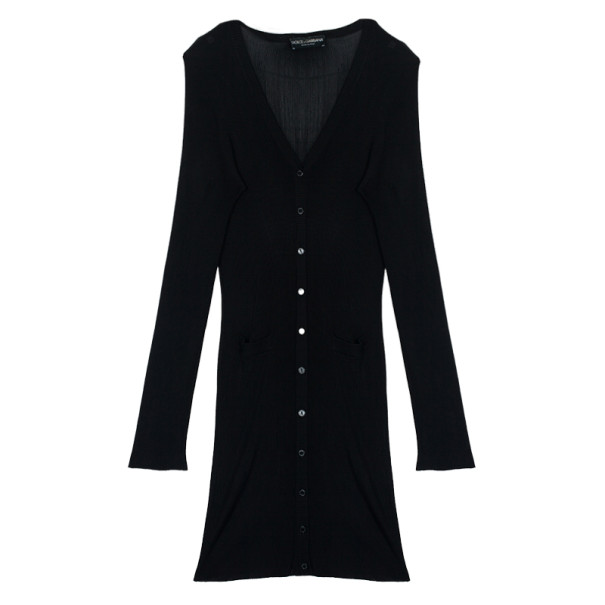 Dolce and Gabbana Black Knit Cardigan M
