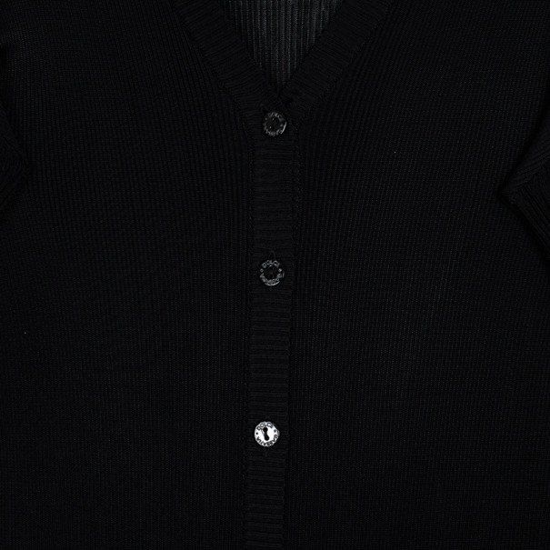 Dolce and Gabbana Black Knit Cardigan M