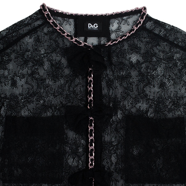 D and G Spark Lace & Chain Jacket M
