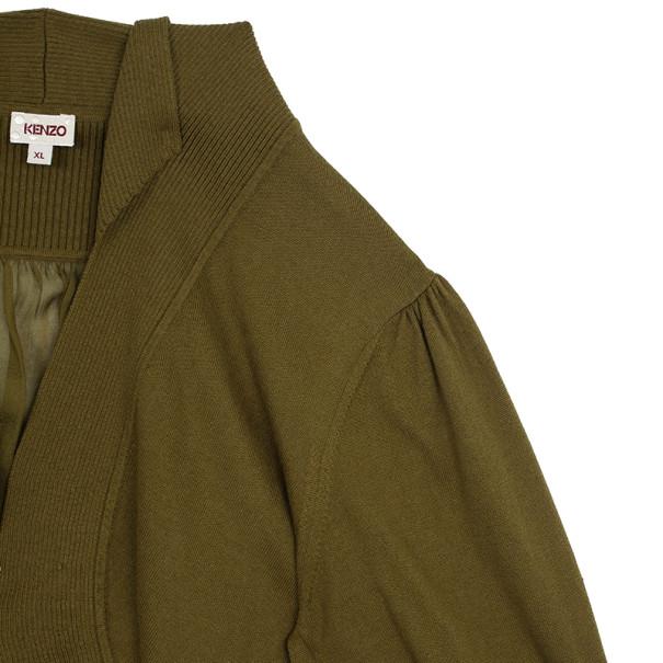 Kenzo Olive Green Bolero XL
