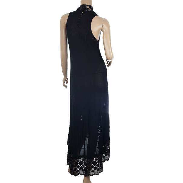Alexander McQueen Lace Trimming Maxi Dress M