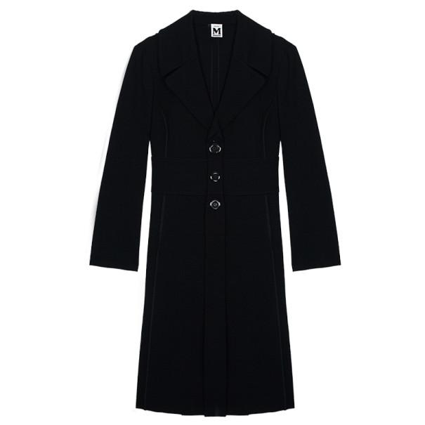 M Missoni Black Trench Coat L