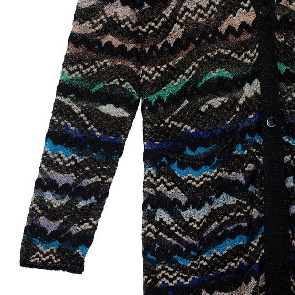 Missoni Metallic Multicolor Open Maxi Cardigan L