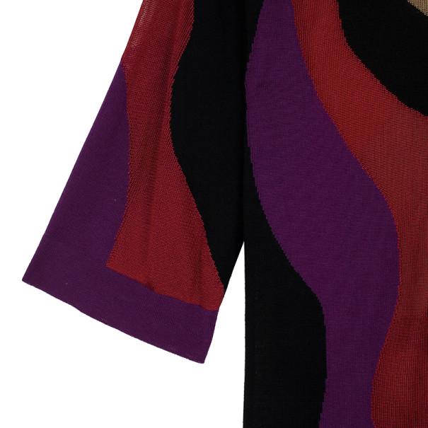 M Missoni Wave Print Multicolor Knit Dress M