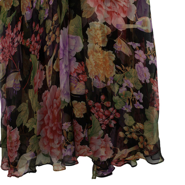 Dolce and Gabbana Chiffon Floral Maxi Dress M