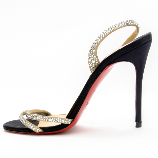 Christian Louboutin Anna Strass Crystal Sandals Size 37