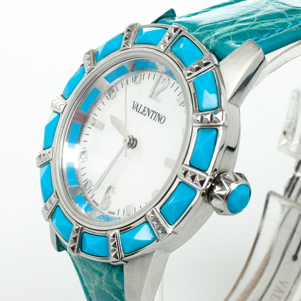 Valentino Sapphire Crystal Womens Wristwatch 38 MM