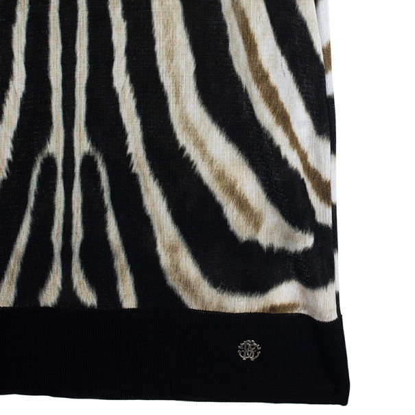 Roberto Cavalli Animal Print Knit Sheath Dress XL