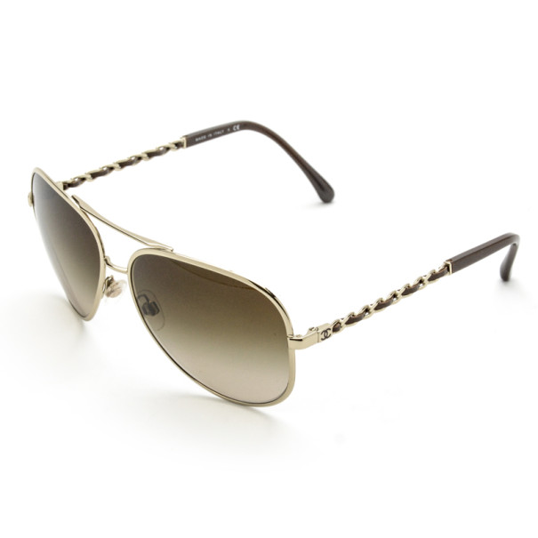 Chanel 4194-Q Chain Link Woman Aviators