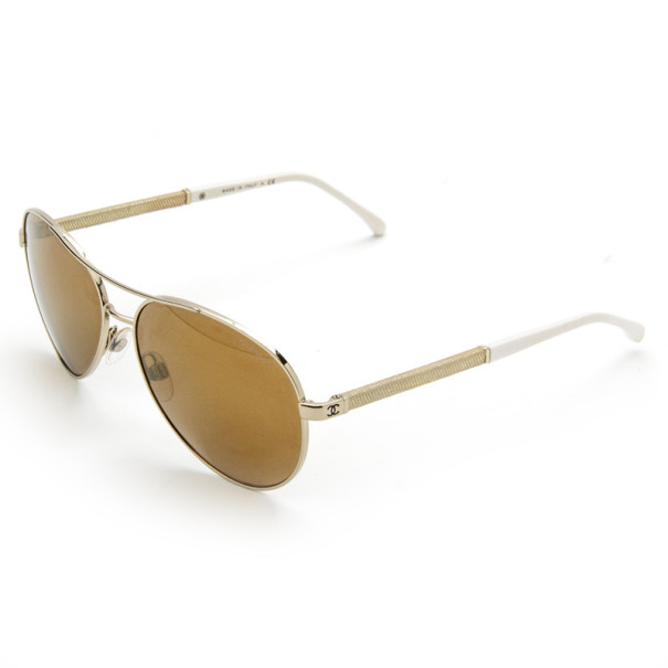 Chanel Gold Rimmed 4185 Woman Aviators